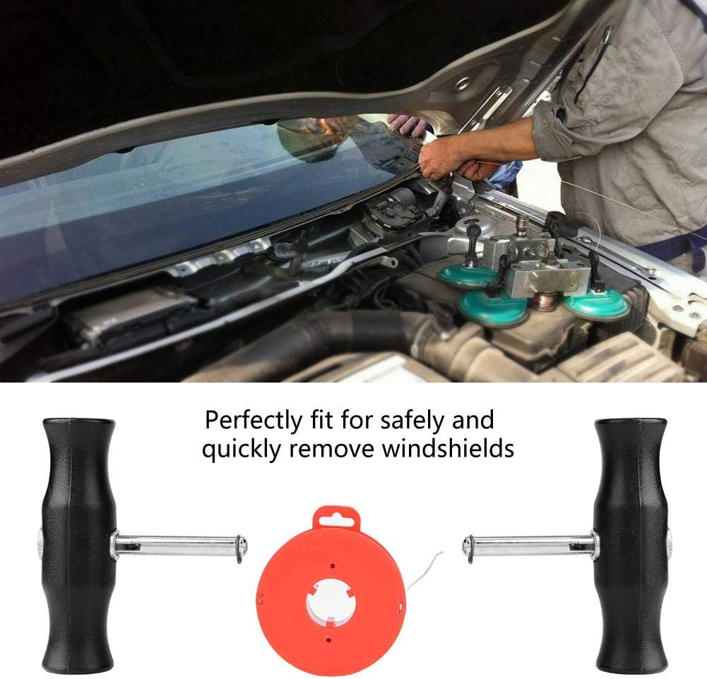 Windshield Remover Tool,Car Auto Windshield Removal Tool Windscreen Window Glass Cutting Wire /& Handles
