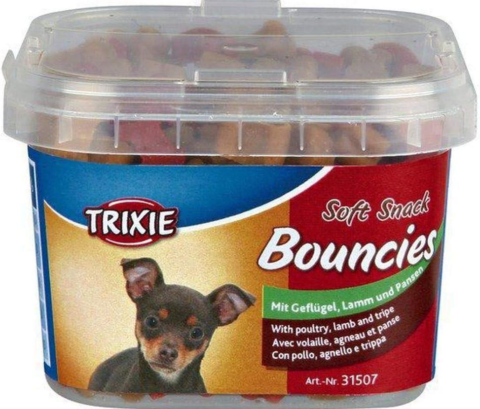 Trippa 140g Agnello Altre Categorie Specialit/à di Carne Soft Snack Bouncies Mini Cubetti di Pollo Trixie Cani Specialit/à