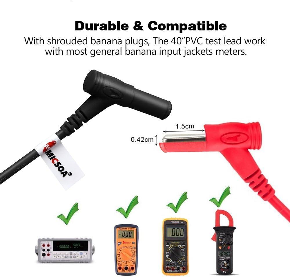 28Pcs Austauschbarer elektronischer Messleitungssatz mit Multimeter-Messkabel mit Bananenstecker und Krokodilklemme
