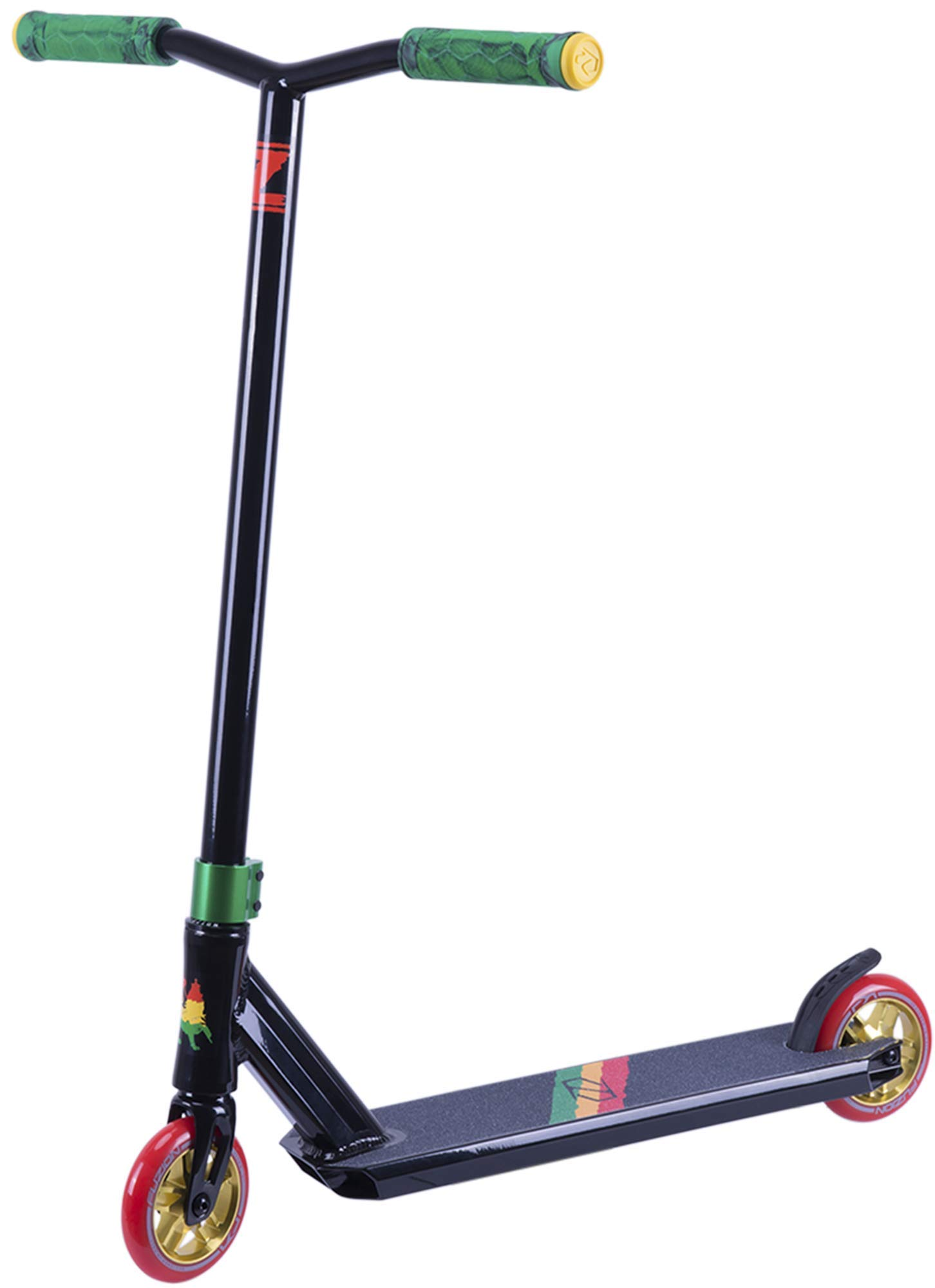 Fuzion Z250 Pro Scooters - Trick Scooter - Intermediate and Beginner Stunt Scooters for Kids 8 Years and Up, Teens and Adults – Durable Freestyle Kick Scooter for Boys and Girls (2019 Rasta)