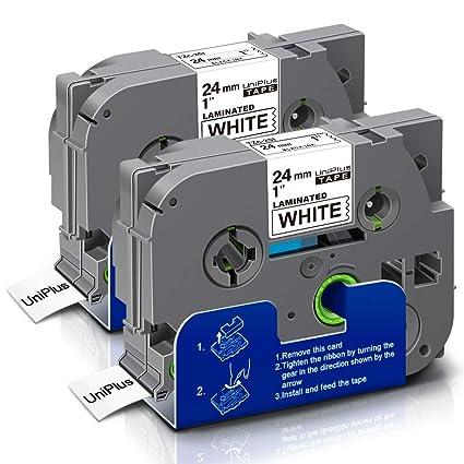 UniPlus 2-Pack PTouch TZe-251 24mm Cinta de etiqueta Negro sobre ...
