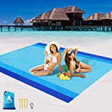 AISPARKY Beach Blanket, Beach Mat Outdoor Picnic Blanket Large Sand Proof Compact for 4-7 Persons Water Proof and Drying…