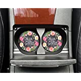 Christian quote - He fills my life with good things - Car coasters - Sandstone auto cup holder coasters - Gifts for women