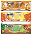 Peeps Fall Holiday Set Halloween New Flavors Marshmallow Pumpkin Spice Latte, Candy Corn, Caramel Apple with Fudge Bottoms, To Try! So Delicious! by Peeps