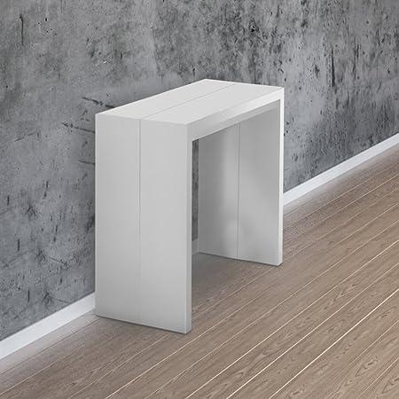 Tavolo Consolle Allungabile Bianco.Consolle Allungabile 3mt Fornita Montata Colore Bianco Opaco