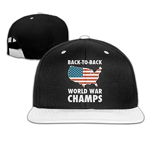 Image Unavailable. Image not available for. Color  tanqushangmao Back to Back  World War Champs Hip-Hop Baseball Cap Snapback ... ba43f55342d