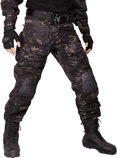 Idogear G3 Pantalones De Combate Con Rodilleras Color Negro W32 L31 C Multicam Black Amazon Es Deportes Y Aire Libre