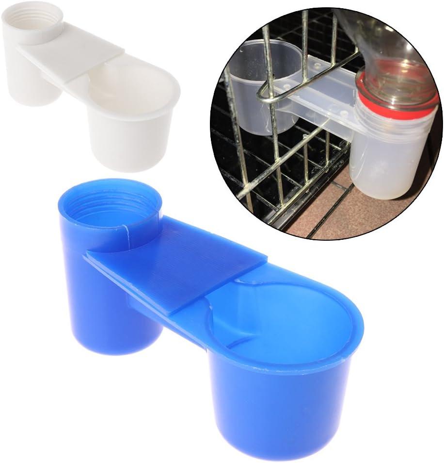 Lovhop Bird Feeder Water Drinker Feeding Cup Plastic Parrot Pigeon Tools 1PC