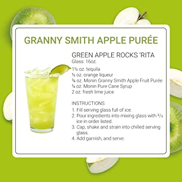 Monin - Granny Smith Apple Puree, Tart and Sweet, Great for Smoothies and  Desserts, Gluten-Free, Vegan,