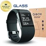 Qibox Premium HD Displayschutz für Fitbit Surge / Fitness Superwatch, klar, Sekuritglas, 9 H Härtegrad, mehrschichtig, explosionssicher, blasenfrei