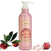 Premium ROSE French Vintage Body Lotion with Shea Butter and Argan Oil – Rose Petal, Peach and Patchouli Un Air d'Antan Exclusive Perfume – Moisturizing, Paraben-Free Formula – 6.8oz.