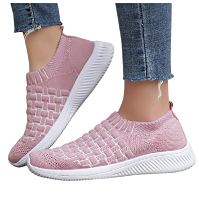 YiYLunneo Womens Soft Sock Walking Shoe Runing Breathable Tennis Shoe Outdoor Mesh Athletic Training Sport Sneakers: Clothing
