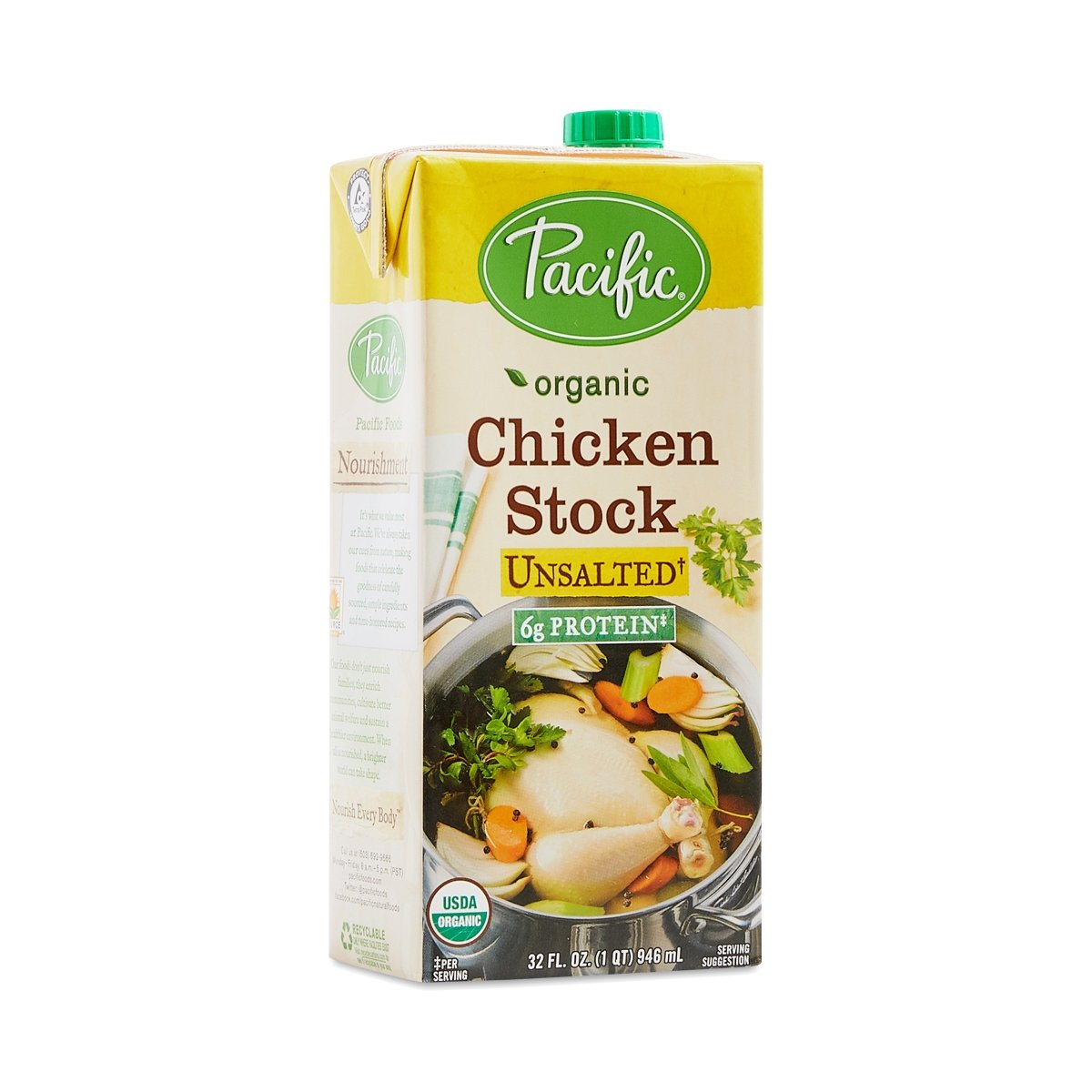Pacific Foods Stock Chicken Unsalted Organic, 32 lb