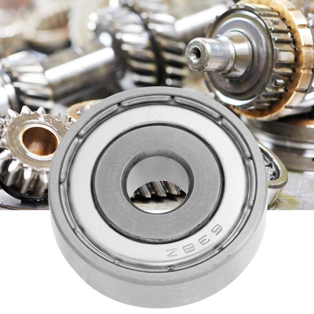 Simlug 10Pcs Joint /à double face portant roulement /à billes en acier /à gorge profonde 638-ZZ