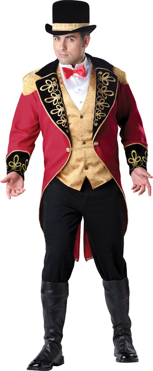 Incharacter Costumes Men's Tail Coat With Chain Closure Top Hat And Boot Covers