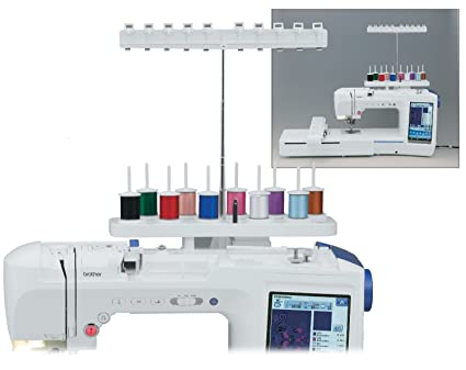 Amazon HONEYSEW 40 Spool Cone Thread Stand Attachment For Unique Embroidery Attachment For Sewing Machine