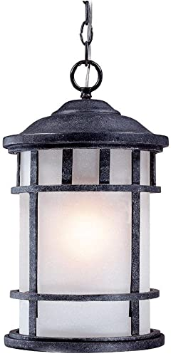 Alico Lighting 1946ST Acclaim Lighting Stone Finished Outdoor Pendant with Frosted Glass Shades
