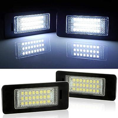 2pc 24 LED Error Free License Plate Light For BMW E90 E92 E93 M3 E70 E60 E39 F30 (Reference Part NO: 63267165646/63267193293): Automotive
