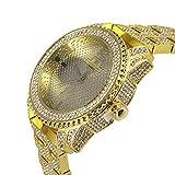 Techno KING Men's Fashion Soul of Stone Series''Golden World'' Watch (1078GM Gold)