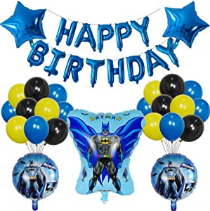 Happy Birthday Set Ultimate Batman balloons for Kids Party Decorations Foil balloon Best Birthday Party Batman Supplies