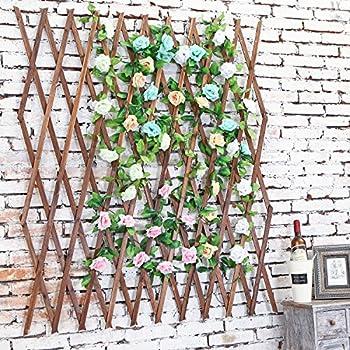 Amazon.com : MyGift Wood Lattice Garden Trellis, Plant
