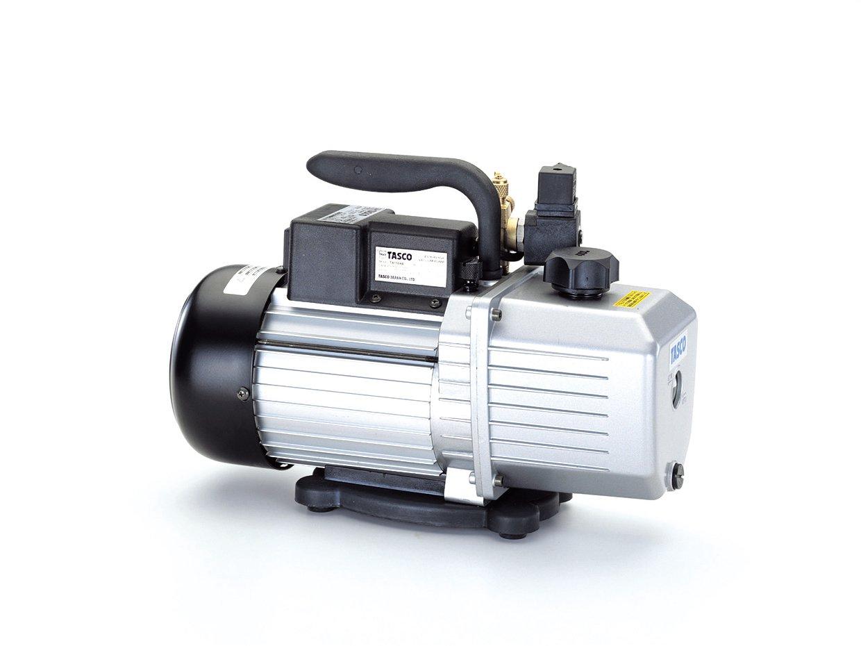 イチネンTASCO TA150RD オイル逆流防止機能付高性能ツーステージ真空ポンプ B00M0E4E2E