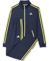 Adidas Boys Youth 8-20 Core Navy / Shock Slime / White Designator Tracksuit Set