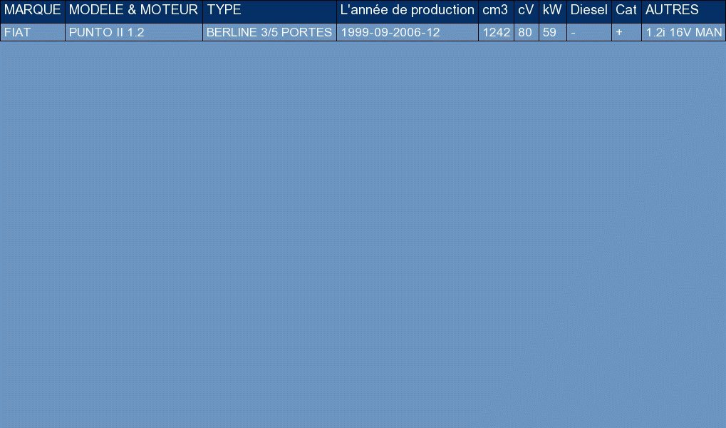 ETS-EXHAUST 5053 Ligne d/échappement Silencieux pour PUNTO II 1.2 BERLINE 3//5 PORTES 80hp 1999-2006