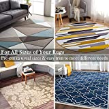 Rose Home Fashion RHF Non-Slip Area Rug Pad 4' x 6' - Protect Floors While Securing Rug and Making Vacuuming Easier 4x6