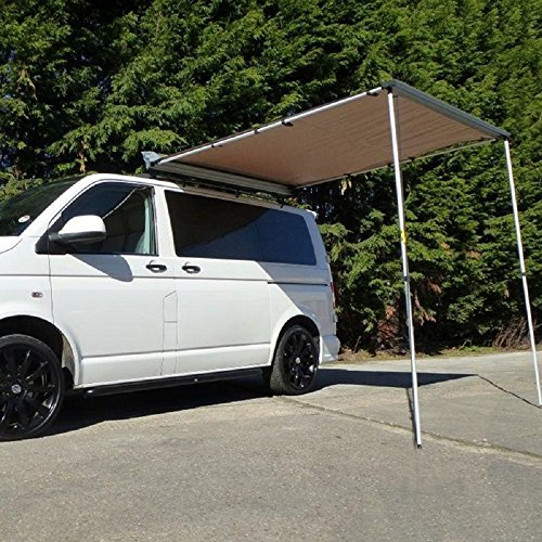 DANCHEL 8.2'Lx9.8'W Car Side Awning Portable Folding Retractable Rooftop Sun Shade Shelter
