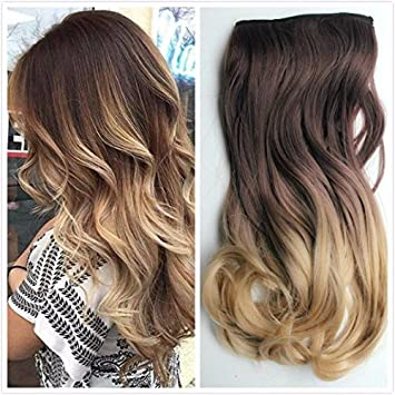 Amazon 20 22 34 full head clip in hair extensions ombre 20quot 22quot 34 full head clip in hair extensions ombre one piece pmusecretfo Images