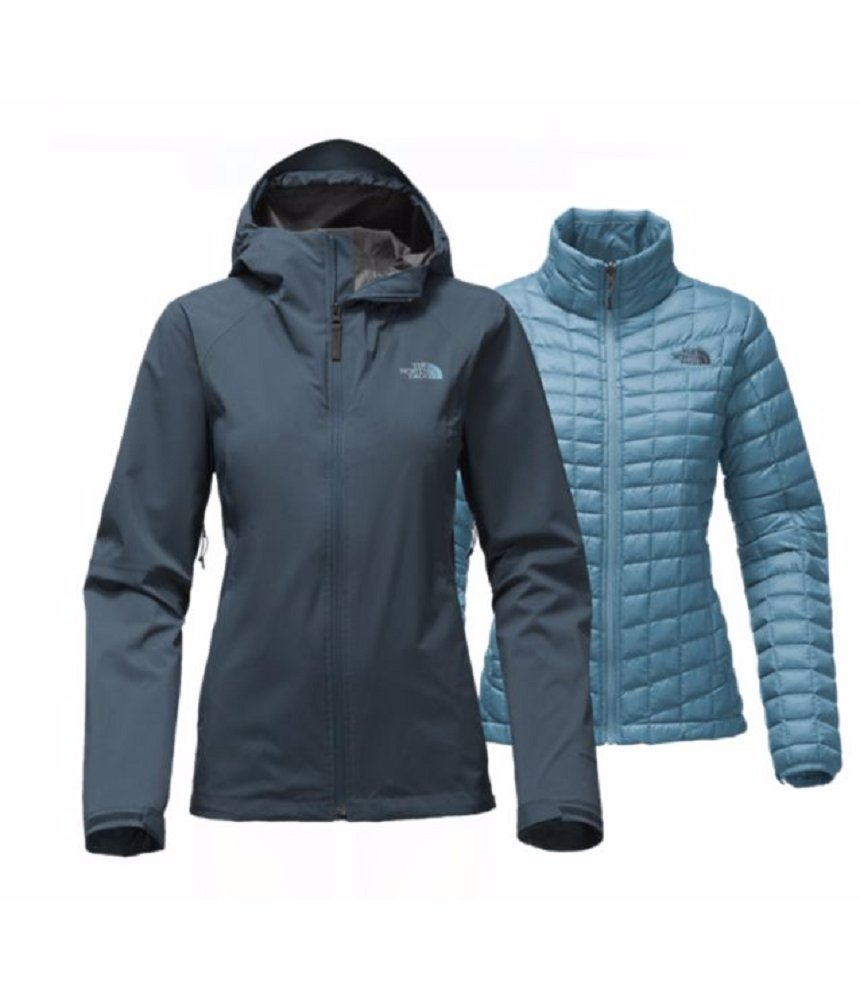 The North Face Thermoball Triclimate Jacket Women (Medium, Ink Blue)