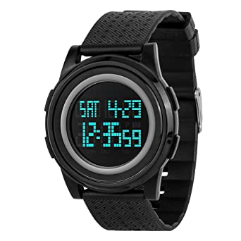 6c45bd99a Men's Digital Military Sports Watch 5ATM Waterproof LED Backlight Simple Big  Dial Wrist Watches