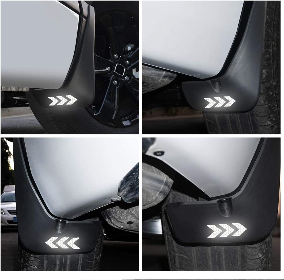 Car Mud Flaps For F ord S-MAX 2011-2015 Splash Guard Fender Front /& Rear 4Pcs Set Mudguard With Arrow Green Reflective Sticker
