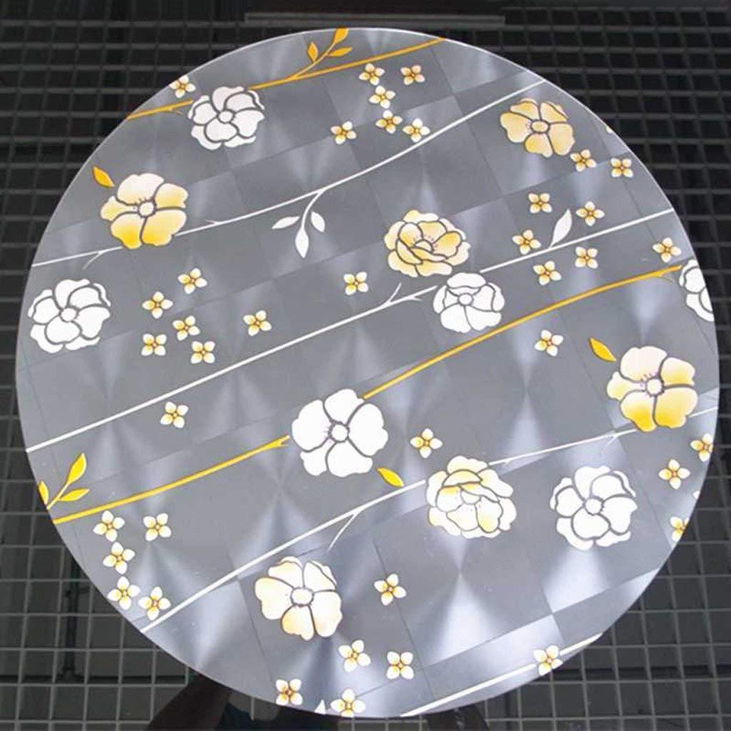 JJD 柔らかいガラス円形テーブルクロス透明クリスタルプレートダイニングテーブルで防水テーブルクロスコーヒーテーブル(で (サイズ : 100*100cm) 100*100cm  B07RGH9ZKB
