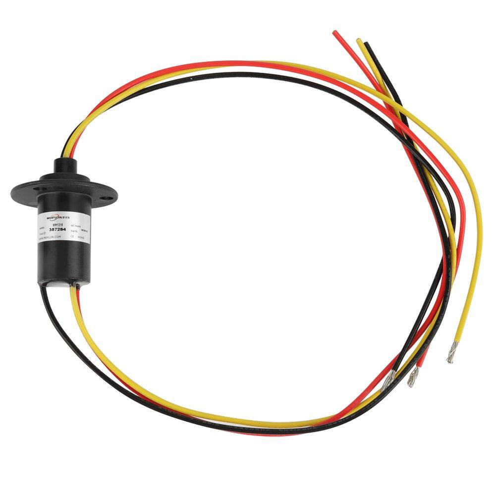 250RPM 15A Mini Schleifring 3 Dr/ähte 0-600V f/ür Windkraftanlagen