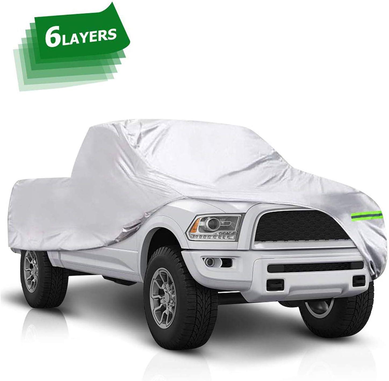 X AUTOHAUX Plastic Car Cover Shield Rain Snow Hail Dust Universal 6.6x4.1m for Car SUV
