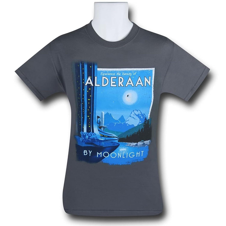 Star Wars Alderaan By Moonlight Travel Poster T-shirt