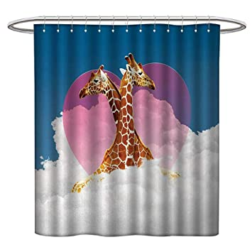 Amazon LewisColeridge Vintage Shower Curtain AnimalCuddly