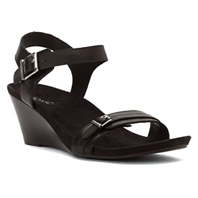 9f2dcdfa148 Vionic Noble Laurie - Women s Wedge Sandal Black 8.5 B(M) US  Buy Online at  Low Prices in India - Amazon.in