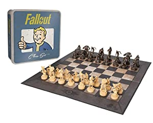 Fallout Chess | Based on the Popular Fallout 4 Game by Bethesda | Custom Sculpt Pieces Featuring Characters from Fallout | Officially Licensed Fallout Merchandise