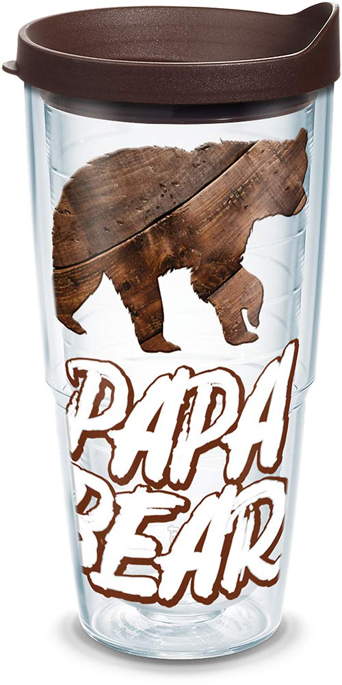 Tervis 1315380 Papa Bear Stainless Steel Insulated Tumbler with Lid 12 oz Silver