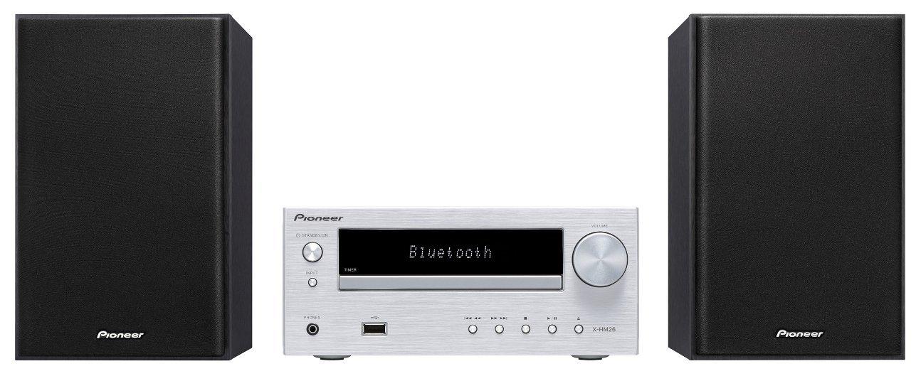 Pioneer X-HM26-S - Sistema Hight Micro (con USB Frontal, Bluetooth), Aluminio Plata