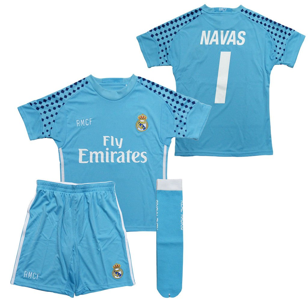 the best attitude 7bb0e b2a27 Official Replica Goalkeeper Kit Real Madrid Keylor Navas ...