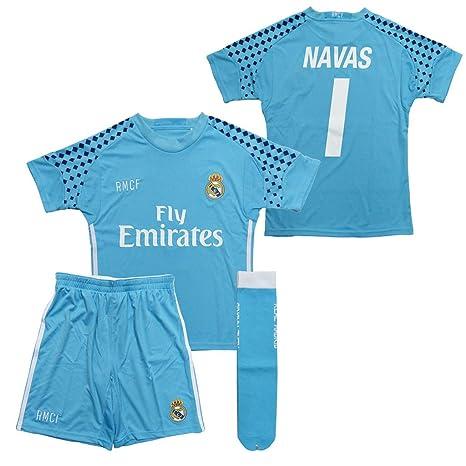 Réplica oficial Equipación portero Real Madrid Keylor Navas ...