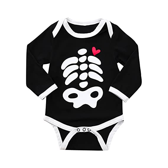 ❤ Tefamore Ropa Bebe Niña Otoño Invierno Halloween Cráneo Recién Nacido Niña Peleles Manga Larga Monos Mameluco, 0-24 Meses Bebé Ropa: Amazon.es: Ropa y ...