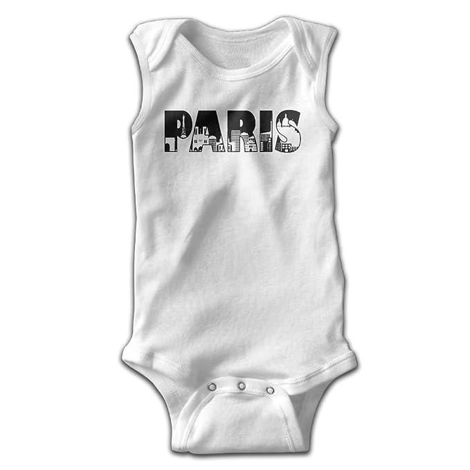 Amazon Com Paris City Skyline Text Outline Baby Newborn Infant