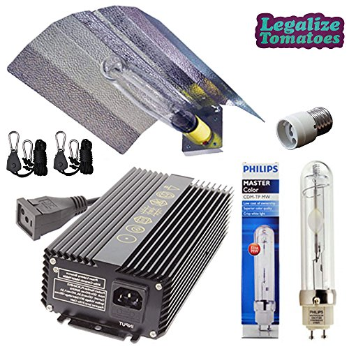Metal Halide Reflector - Prism Lighting Science 315w CMH Grow Light Kit- LEC Ceramic Metal Halide High Performance Package - HID Wing Reflector, 315w Watt Ballast 120/240v Volt, Philips 4200K Lamp/Bulb, Mogul Socket Adapter