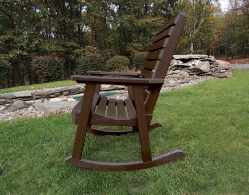 highwood Furniture Weatherly Rocking Chair Weathered Acorn -  - patio-furniture, patio-chairs, patio - 61J6MdwGehL -