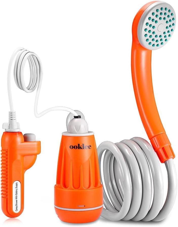 Ducha portátil para cámping con bomba de agua recargable y sistema de filtración de agua incorporado, múltiples usos, de Ooklee